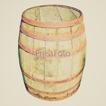 Retro look Wooden barrel cask