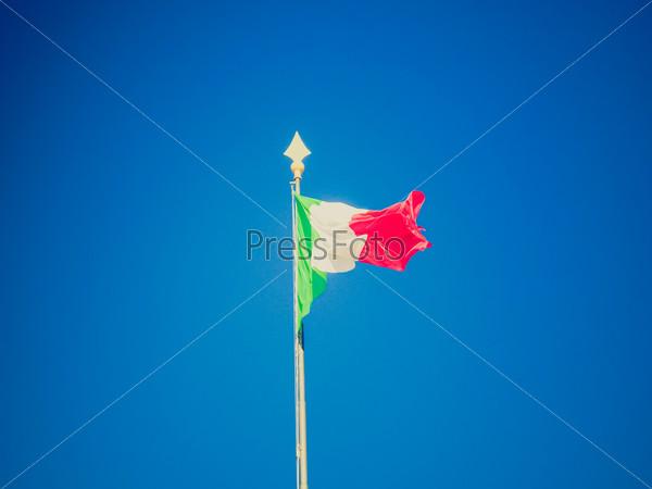 Retro look Italian flag