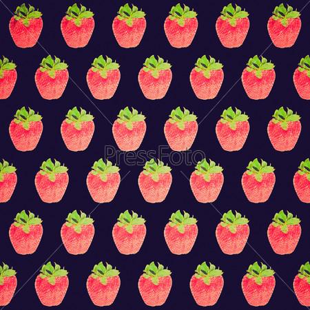 Retro look Strawberry background