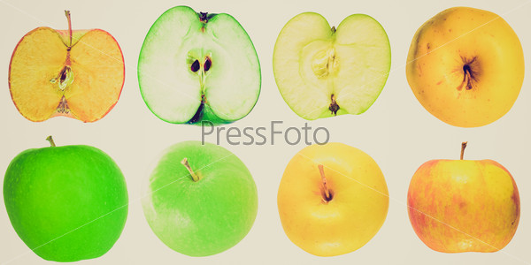 Retro look Apple isolated