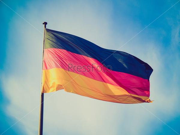 Retro look German flag