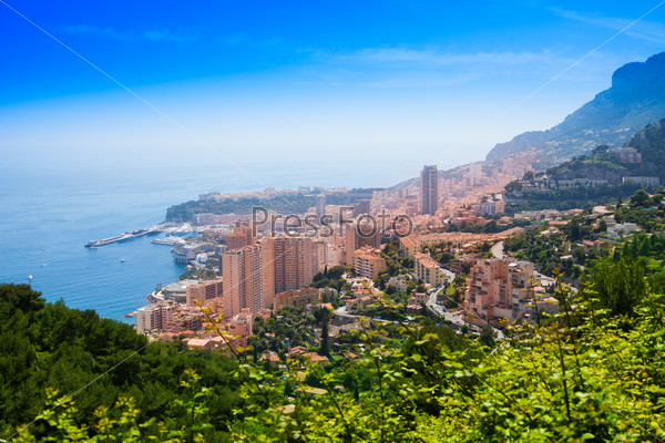 Cityscape from autostrada of Monaco city