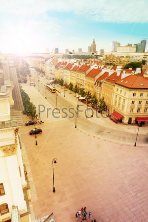Krakowskie Przedmiescie street panorama