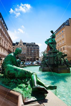 Donnerbrunnen fountain in Vienna