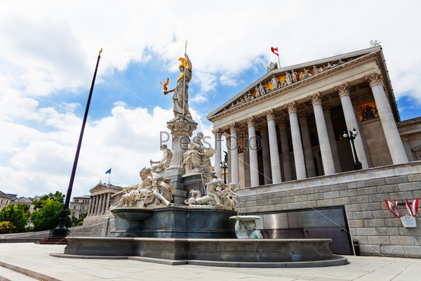 Austrian Parliament and fountain