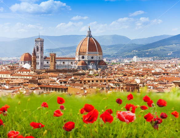 Florence, Duomo and Giotto's Campanile.
