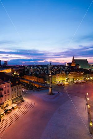 Sunset at Warsaw