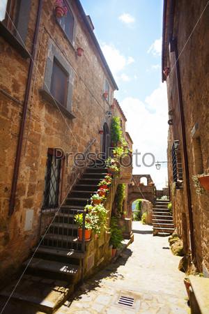 Narrow streets of Bagnoregio