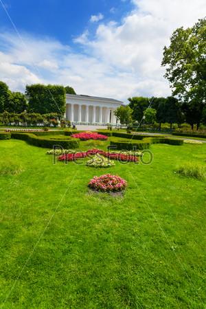Volksgarten park with flowers