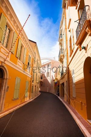 Street in old town in Monaco