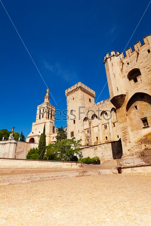 Avignon old town central square