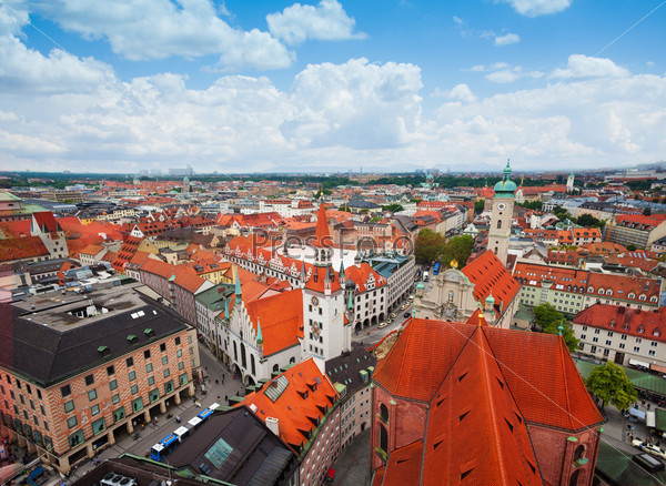 City view of Munich, Bavaria, Germany