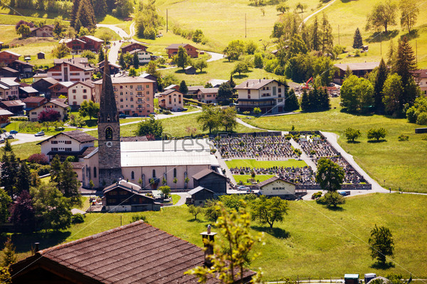 Традиционный город в Швейцарии
