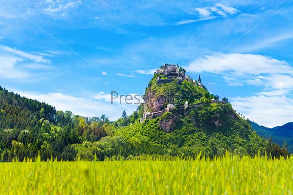 Hochosterwitz castle and fields around