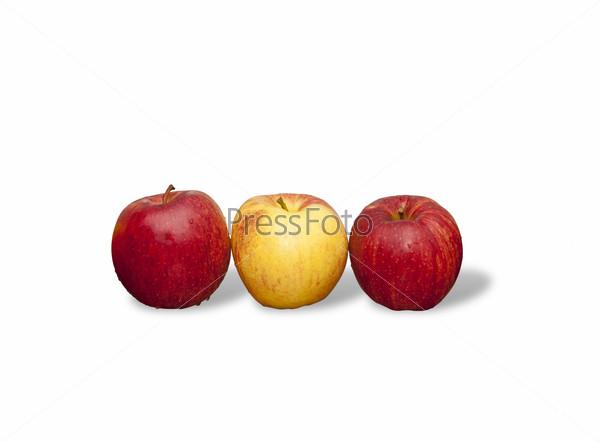 Цветные яблоки