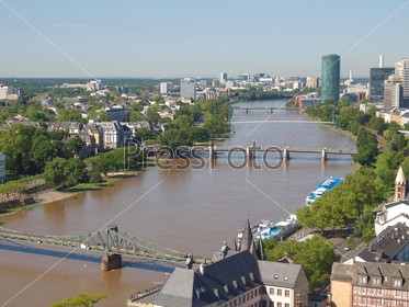Aerial view of Frankfurt