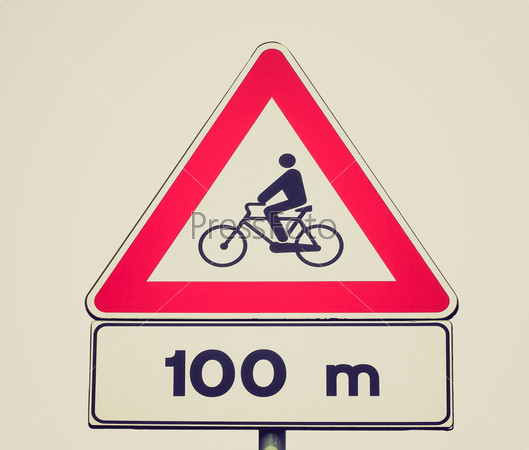 Retro look Bike sign
