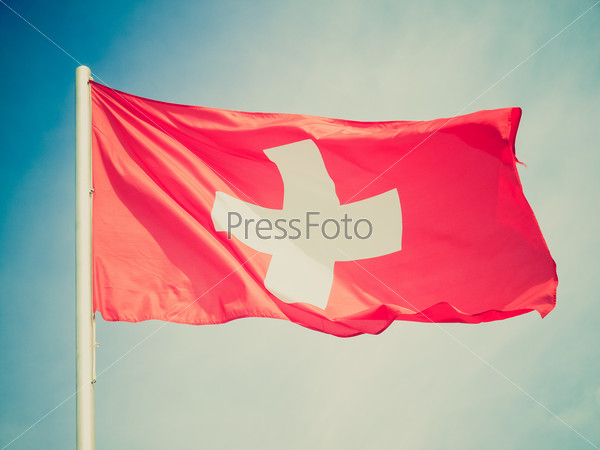 Retro look Flag of Switzerland