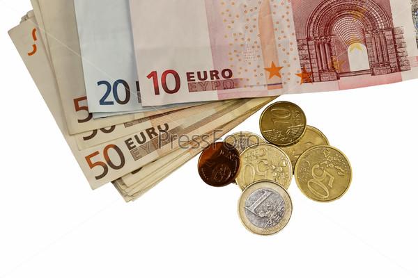 Деньги (евро) крупным планом