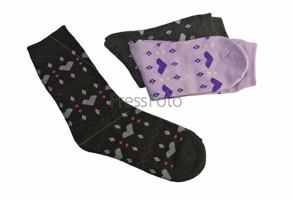 Женские носки крупным планом
