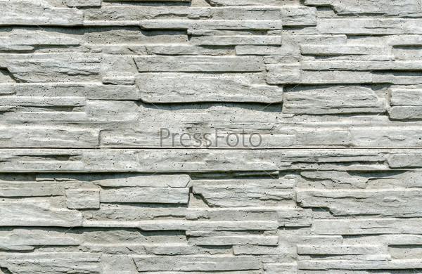 Texture of decorative concrete fence