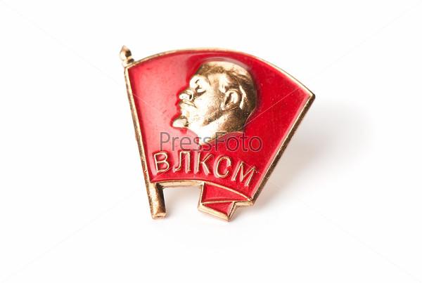 Komsomol sign with Lenin profile