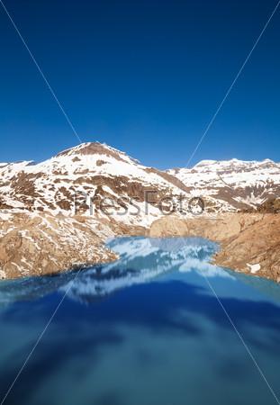 Lake Emosson reservoir