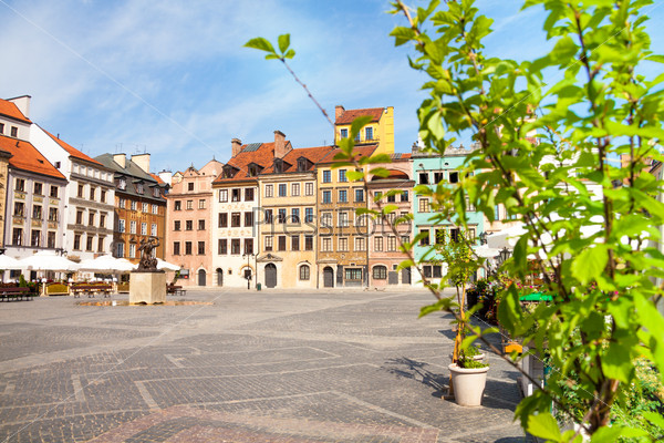 Nice old marketplace square in Warsaw