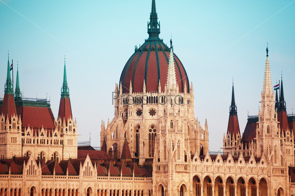 Parliament cupola in Budapest, Hungary