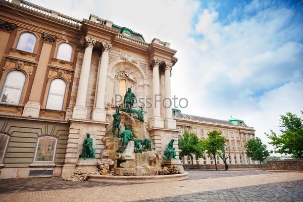 Matthias Fountain, Buda Castle in Budapest
