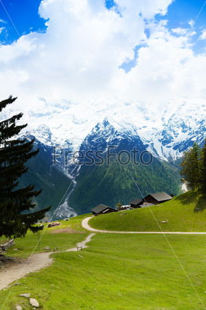 Beautiful landscape with mountains, Mont Blanc