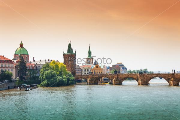 Beautiful Charles Bridge in Prague