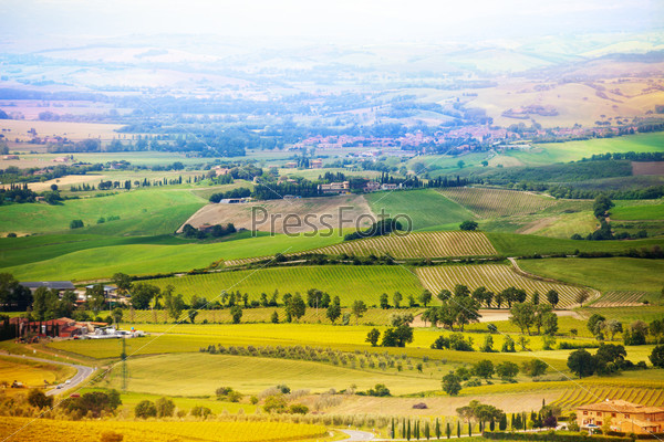 Beautiful countryside in Tuscany landscape, Italy