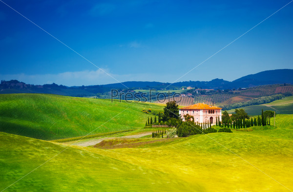 Beautiful house in Tuscany landscape, Italy