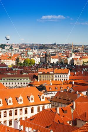 Red roofs in Prague, Czech Republic