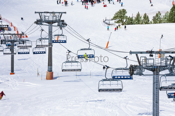 Ski lift background