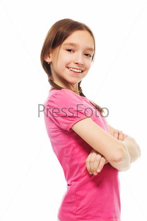 Happy confident school girl