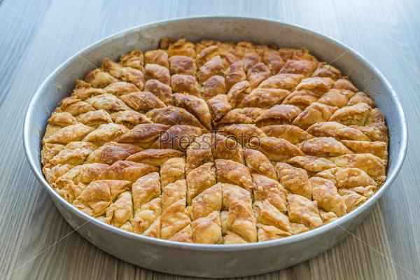 Turkish Pistachio Pastry Dessert, Baklava