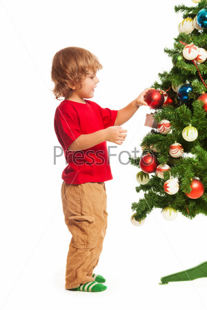 Boy and Christmas