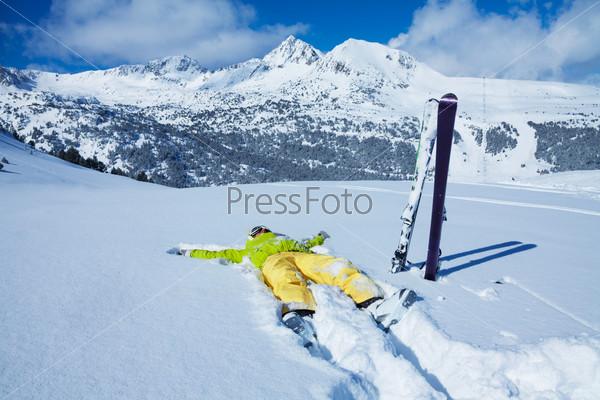 resting in snow