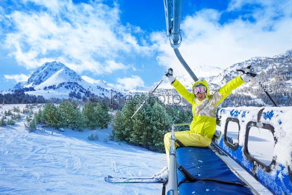 Skiing makes me happy