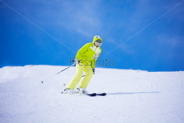 I love speed when I ski
