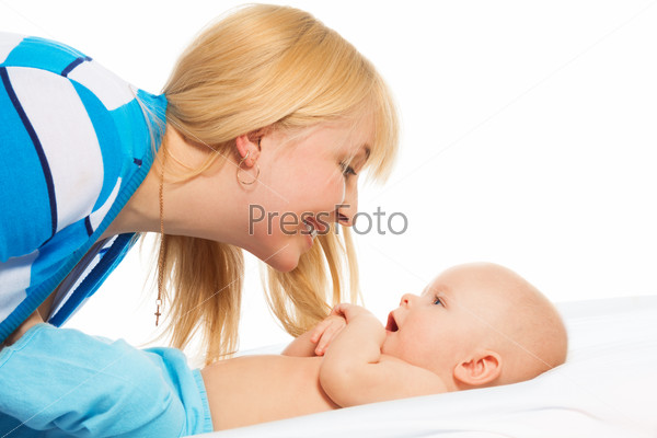 Tickling little baby