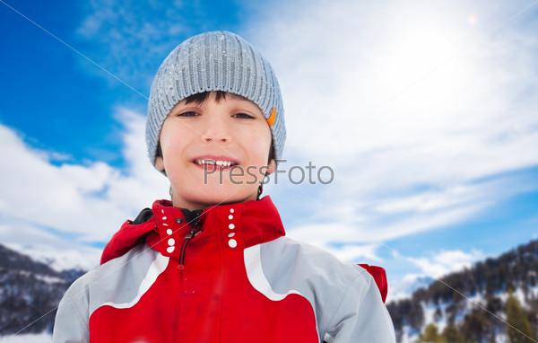 Winter portrait of boy
