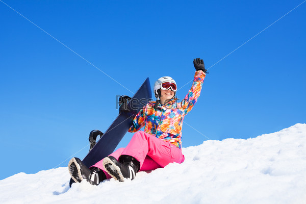 Student on vacation with snowboards