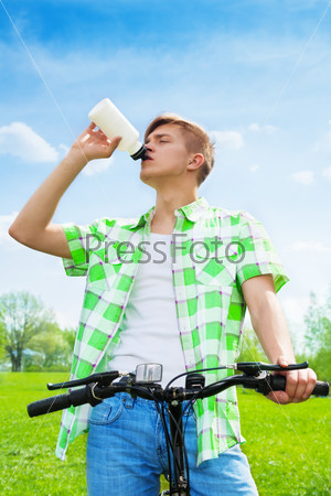Thirsty after a ride on hot day