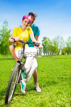 Couple on the bike