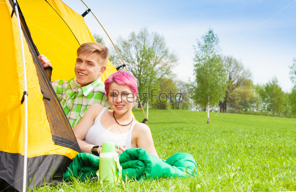 Couple in the tent