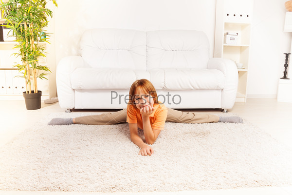 Little boy in living room