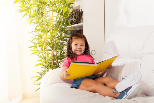 Smart girl reading